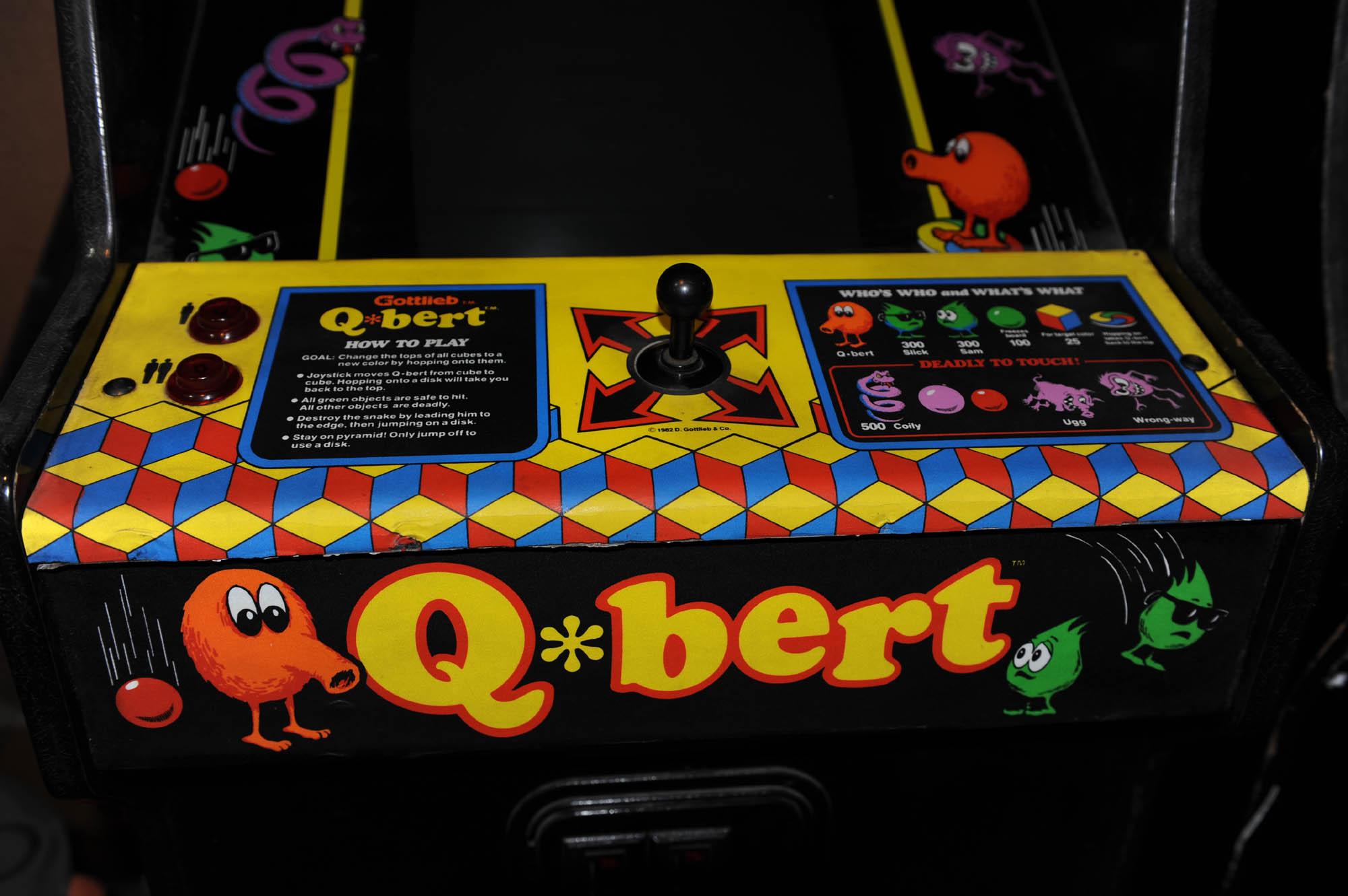 qbert arcade machine