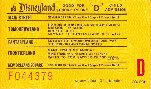 Some Disneyland Tickets